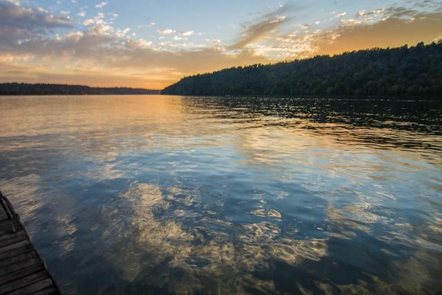 Ohio River - Sunset Reflection
