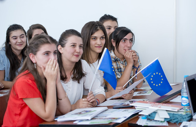 EU Bus Tour and School Visits in Azerbaijan