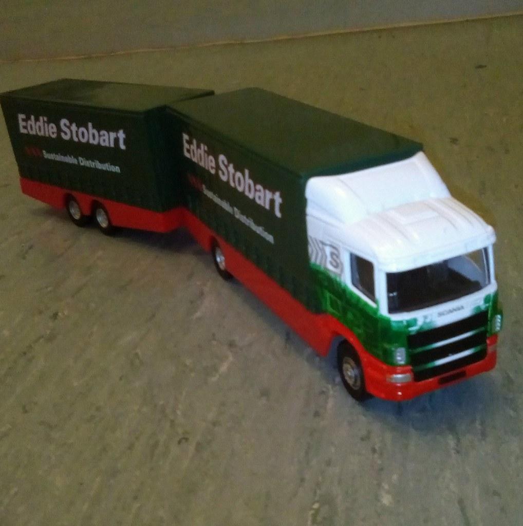 EDDIE STOBART SCANIA DROP BAR DRAG LORRY CORGI TRUCKS /& TRAILERS ISSUE K8967Q~#~