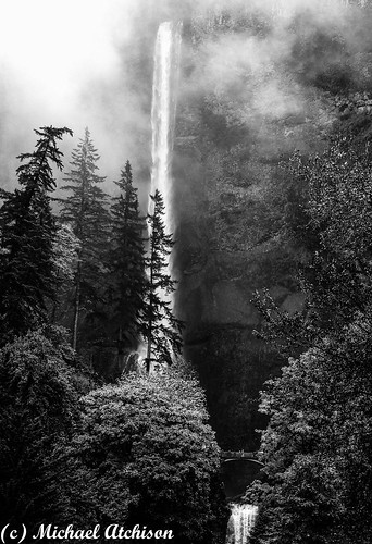 Multnomah Falls in Rain | by AtchisonGallery