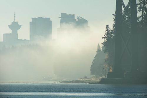 fogcouver lionsgatebridge stanleypark seawall vancouverlookout fog vancouver myportcity 604now photos604 explorebc explorecanada canoncanada ilovebc britishcolumbia pacificnorthwest pnw canada 500px