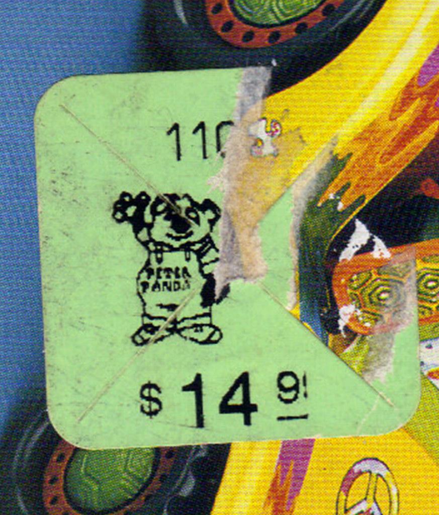 TEENAGE MUTANT NINJA TURTLES :: MIKE'S KOWABUNGA SURF BUGGY ..box, 'PETER PANDA' CHILDREN'S PALACE price tag  (( 1991 )) by tOkKa