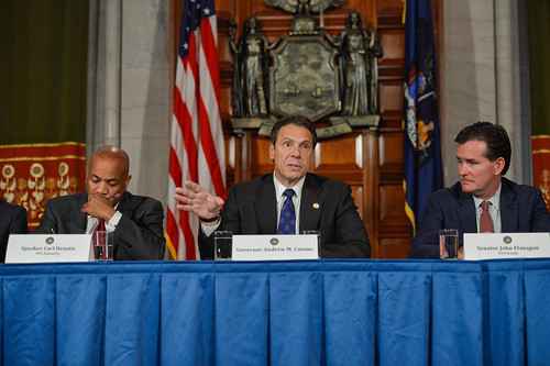 Governor Cuomo, Senate Majority Leader Flanagan and Assembly Speaker Heastie Make an Announcement | by governorandrewcuomo