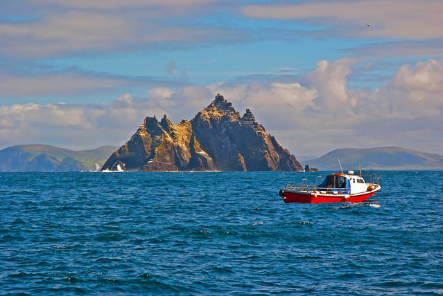 Skelligs, County Kerry from the Atlantic Ocean