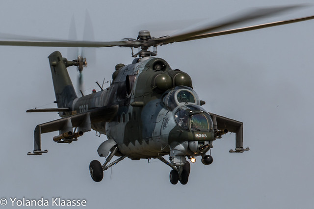 Texel Airshow 2015 : Czech air force Mi-35 3368