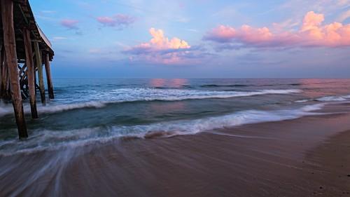 ocean sunset seascape beach clouds canon photography sand waves belmar jerseyshore atlanticocean belmarjerseyshore autoremovedfrom1to5faves