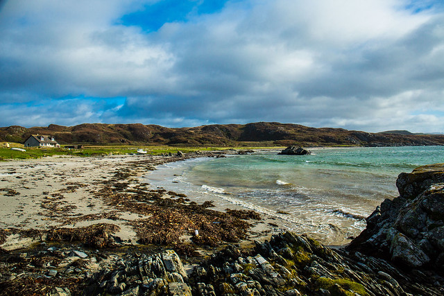 The remote Uisken Bay, Isle of Mull