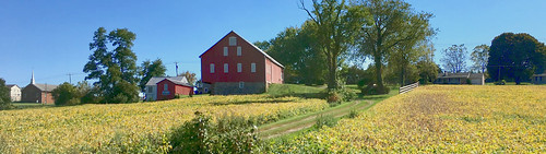 westminster maryland carrolco farms fields barns crops fallcolor flyby iphone pano