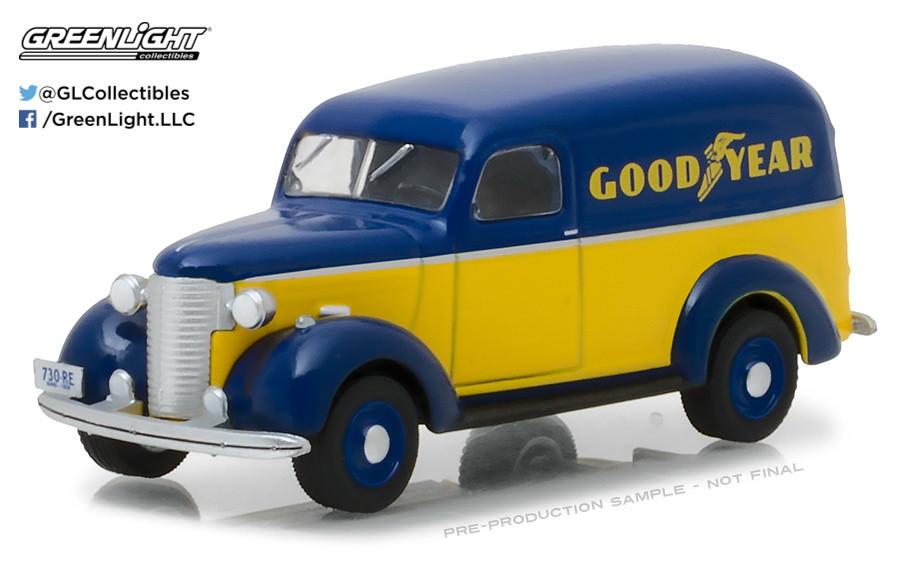 1939 CHEVROLET TRUCK GOODYEAR TIRES RUNNING ON EMPTY 4 1//64 GREENLIGHT 41040 B