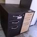 Walnut slim 3 drawer ped E50