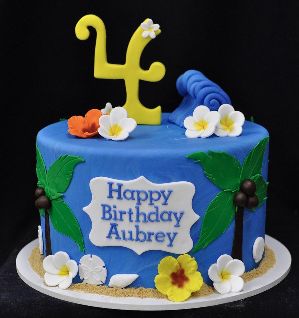 Fine Hawaiian Moana Themed Birthday Cake Jenny Wenny Flickr Funny Birthday Cards Online Bapapcheapnameinfo