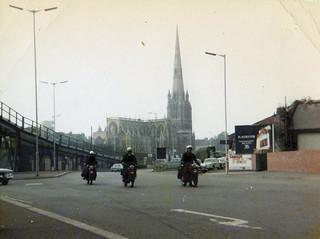 Telegraph Messengers in Redcliffe way Bristol 1970