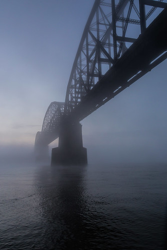 2017 canon eos6d eadsbridge macarthurbridge midwest mississippiriver missouri october poplarstreetbridge stl stlouis bridge fog moring sunrise weather unitedstates us