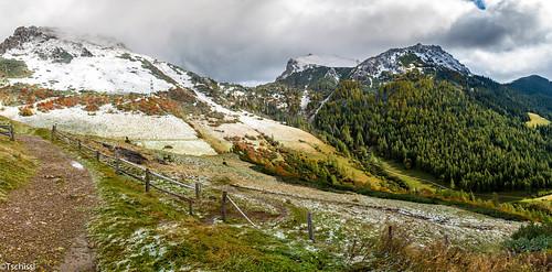 schnee herbst leobenumgebung austria berge location panorama landschaft steiermark österreich