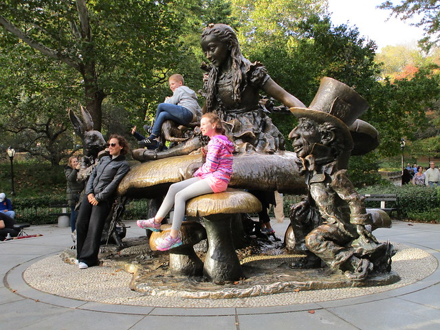 Alice In Wonderland on Mushroom Central Park 2017 NYC 3094