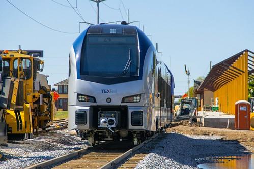 gvrr grapevine railroads texrail texas commuter construction contruction passenger station
