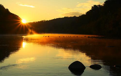 dawn londonontario ontario canada morning sunrise reflection darrellcolby