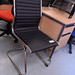 Black leather meeting chair E60