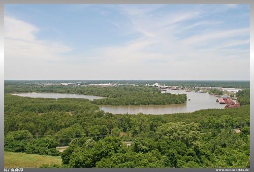 vicksburg national military park mississippi river flus bäume baum schiff ship fort hill