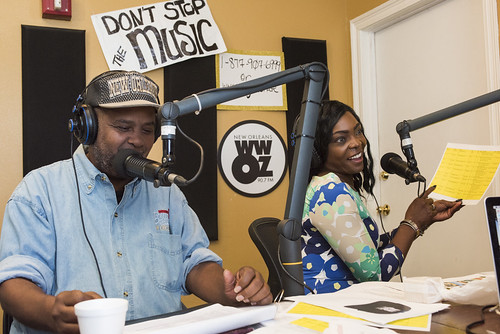 Action Jackson and KaTrina Griffin during WWOZ fall pledge drive on October 24, 2017. Photo by Ryan Hodgson-Rigsbee - www.rhrphoto.com