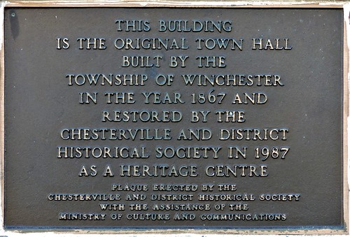 mypics chesterville townhall oldtownhall ontario canada