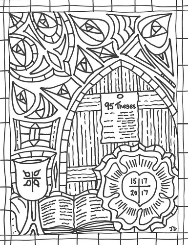 Reformation 500 coloring page | by traqair57