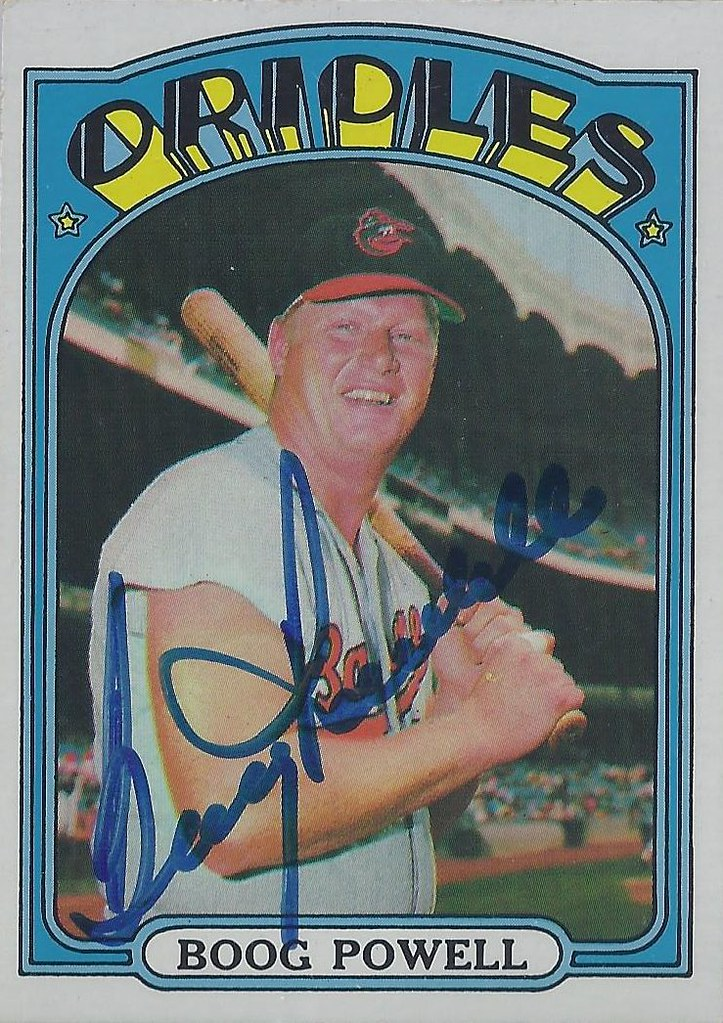 1972 Topps Boog Powell 250 First Base Autographed B Flickr