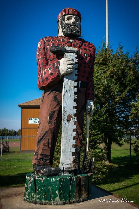 Lumberjack Statue