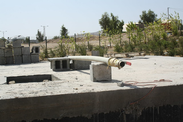Construction of water treatment system (DEWATS)