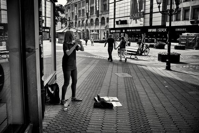 Flötentöne in der Stadt