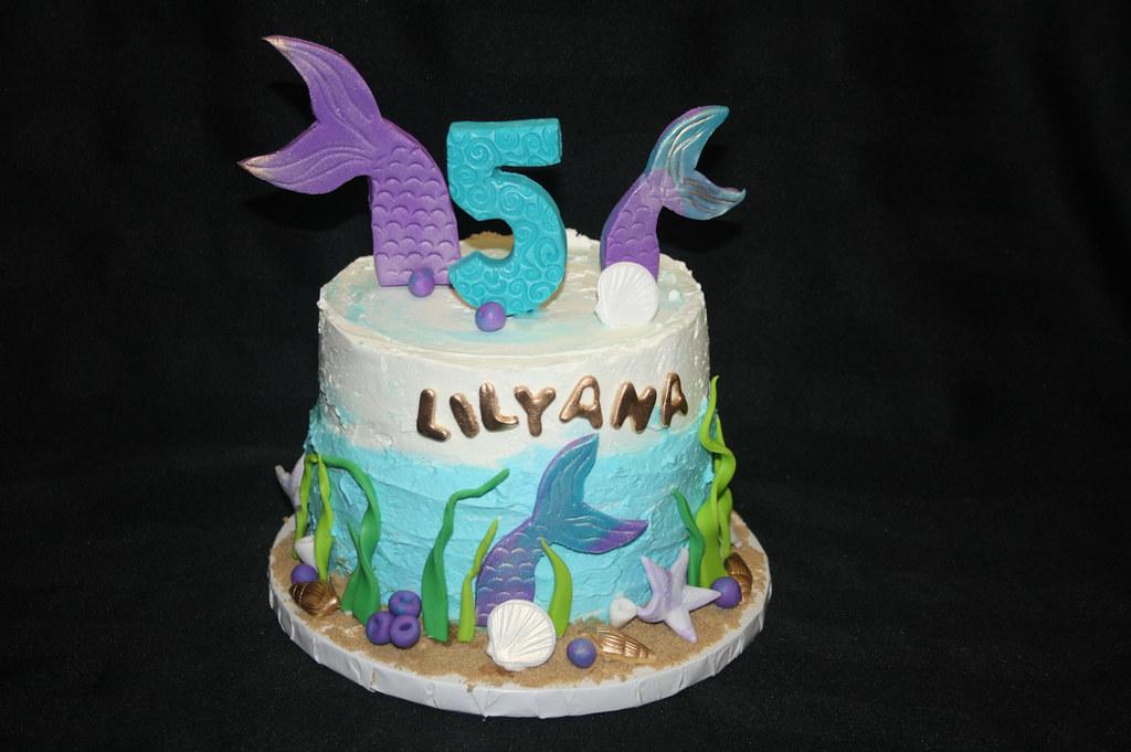 Swell Mermaid 5Th Birthday Cake Mermaidsundersthesea5Thbirthd Flickr Funny Birthday Cards Online Bapapcheapnameinfo