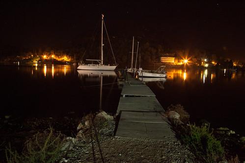 boat by night