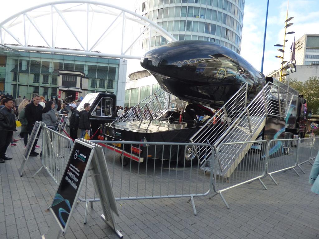 Petronas Mercedes-Benz F1 simulator - Rotunda Square, Bull