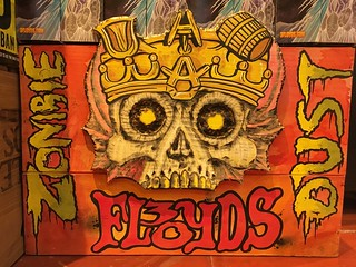 Got to carve & burn some wood for this one #wfmsga #woodensign #woodburning #zombiedust #threefloyds #frightday #halloweensign #beer #skulls #undead #dusted #paintmarkers #jigsaw #cheers | by simple heady