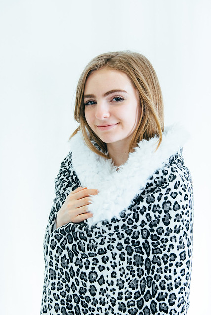 Baby Jaguar and White Llama Cuddle Blanket