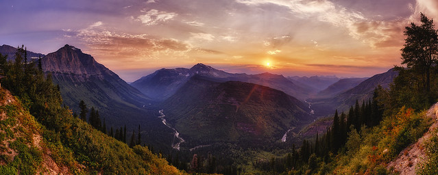 Smoky Sunset on the Going to the Sun Road, Glacier National Park (explore) - 184 Megapixel