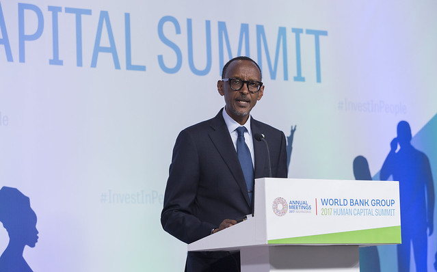 Fri, 10/13/2017 - 16:22 - October 13, 2017 - WASHINGTON, DC. World Bank / IMF 2017 Annual Meetings. Human Capital Summit: Committing to Action to Drive Economic Growth. Watch Event  Jim Yong Kim, President, World Bank Group; Paul Kagame, President Of Rwanda; Amadou Gon Coulibaly, Prime Minister, Cote D'Ivoire; Sri Mulyani Indrawati, Minister Of Finance, Indonesia; H.E. Luis Caputo, Minister Of Finance, Argentina; Priti Patel, MP, Secretary Of State, Uk Department For International Development; Lilianne Ploumen, Minister For Foreign Trade And Development Cooperation The Netherlands; Tone Skogen, State Secretary, Ministry Of Foreign Affairs, Norway; Moderator: Lerato Mbele, Africa Business Report, BBC World News. Photo:  World Bank / Simone D. McCourtie   Photo ID: 101317-HumanSummit-0055f