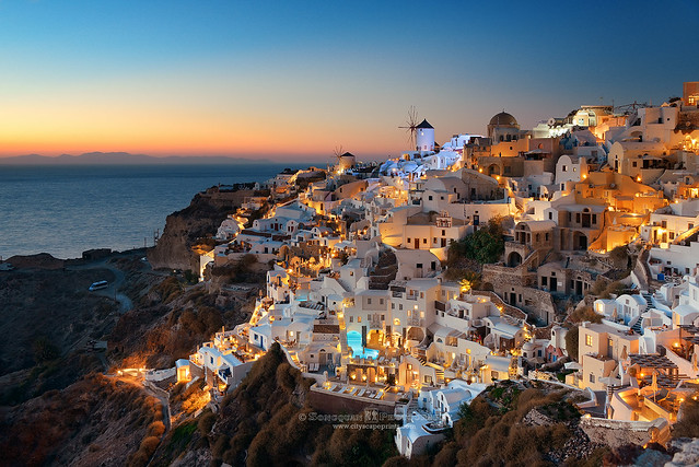 Santorini sunset, Greece