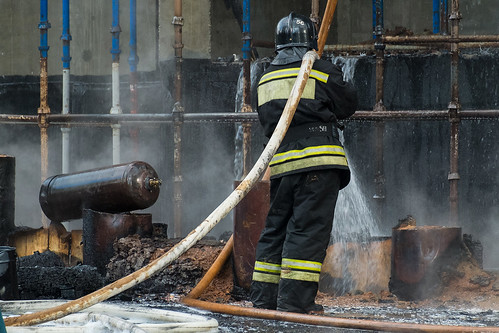 В Москве загорелся 42-й этаж строящейся высотки