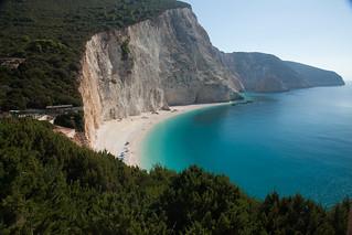 mountainside with beach