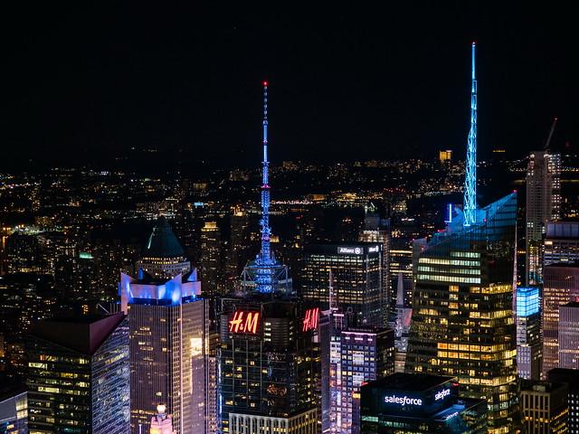 4 Times Square & Bank of America Tower, vistos desde el Empire State Building.  [EXPLORED  October 28, 2017]
