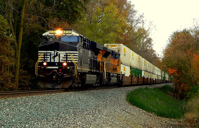 Norfolk Southern on the Huntington District near Spencerville Indiana