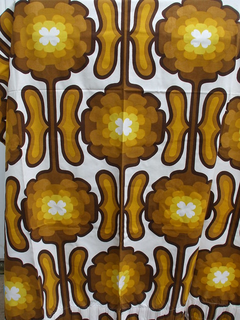 Vintage 1960's 70's Apollo Fabric Curtain By Bevis Mid Century Modern