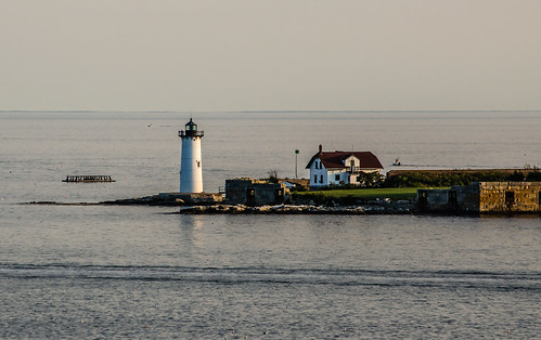 newengland lighthouse nikon photography structure building seascape ocean sea island fort portsmouth maine landscape house architecture headlight harbor piscataqua river delta sky calmness calm scenery d5100 telephoto newhampshire