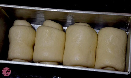 Hokkaido Milk Bread dough before second rise