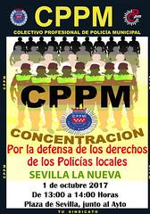 Cartel Concentración Sevilla la Nueva