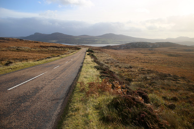 The A838 near Kyle of Tongue