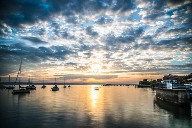Sunset - lake constance