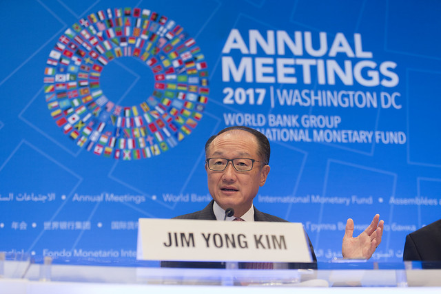 Thu, 10/12/2017 - 09:13 - October 12, 2017 - WASHINGTON, DC. World Bank / IMF 2017 Annual Meetings.  Watch Event  Opening Press Conference: World Bank Group President, Jim Yong Kim. Photo:  World Bank / Simone D. McCourtie   Photo ID: 101217-JYKPressConf-0206f