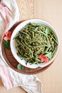 grilled green bean salad | by Hapaway